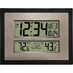 Better Homes and Gardens Atomic Digital Wall Clock with F W