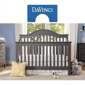 NEW DAVINCI CONVERTIBLE BABY CRIB M5981SL 223485351 4-IN-1 SLATE PINE WOOD TODDLER KID CHILD
