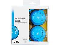 JVC HAS180AN Powerful Bass Headphones - Blue