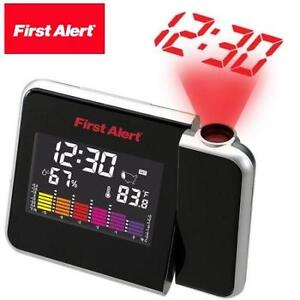 NEW FA WEATHER STATION ALARM CLOCK FIRST ALERT - PROJECTION CLOCK 98715525