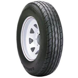 "5.30 x 12"" Carlisle Trailer Tire with White Spoke Rim--New Stock"