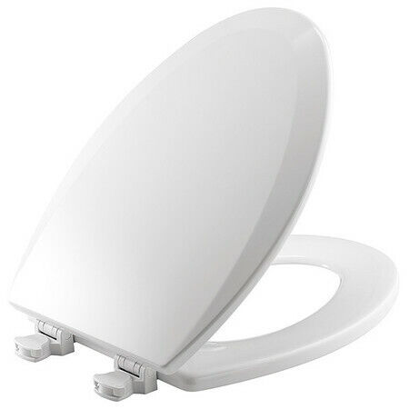 Bemis 1500Ec 000 Toilet Seat, With Cover, Enameled Wood, Elongated, White