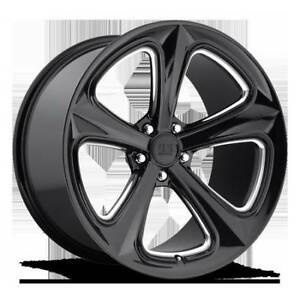 """20"""" STAGGERED US MAG MILNER GLOSS BLACK FORD MUSTANG! 285 25 20"""