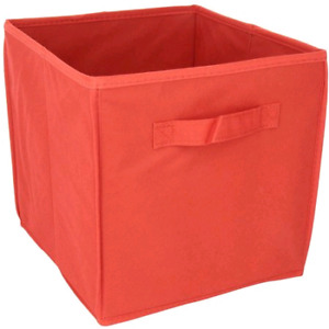 New. Storage cubes. Red, blue and pink