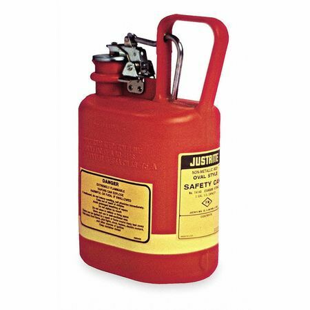 Justrite 14160 1 Gal. Red Polyethylene Type I Safety Can For Flammables