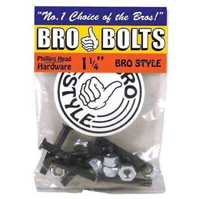 "Bro Style Bro Bolts Skateboard Bolts Phillips Head 1.25"""
