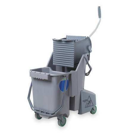 UNGER COMBG Mop Bucket and Wringer,8 gal.,Gray