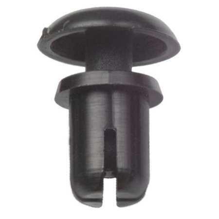 Zoro Select 27Sr0010 Push In Rivet, Snap, 0.122 In, Pk20, Color: Black