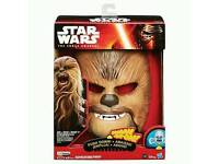 Chewbacca electronic mask x 2 new in box