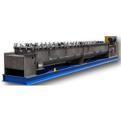 UNUSED Andritz Conditioner Stainless Twin Agitator Mixer Pug Mill Model DA30-21
