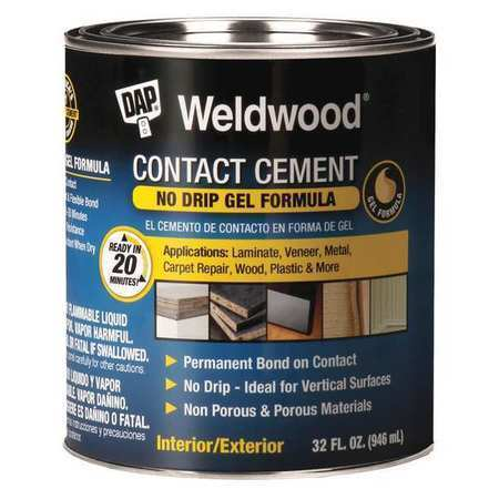 WELDWOOD 25312 Contact Cement, 1 qt.