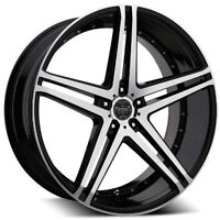 """NEW!! 20""""CONCAVE 5 SPOKE WHEELS WITH TIRES! FULL SET!"""
