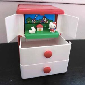 Vintage Hello Kitty Diorama Container by Sanrio 1997