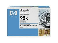 HP 98X High Yield Black Original LaserJet Toner Cartridge (92298X)