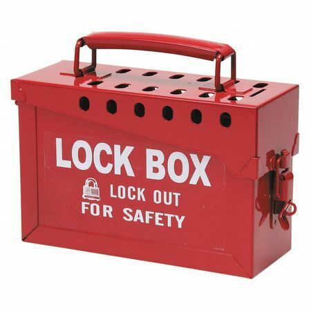 """Condor 437R32 Group Lockout Box,Red,6"""" H"""