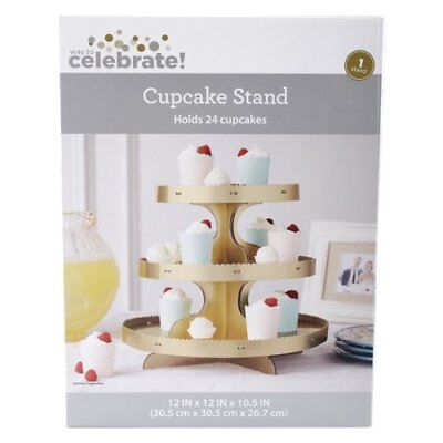 Cupcake Cardboard Stand (NiB Cupcake Tower Cardboard Stand way to Celebrate 24 Count)