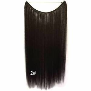 "~~~ NEW, 22"" DARK BROWN HALO HAIR EXTENSION ~~~"
