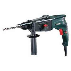 Metabo 120V electric industrial drill used with case and manual