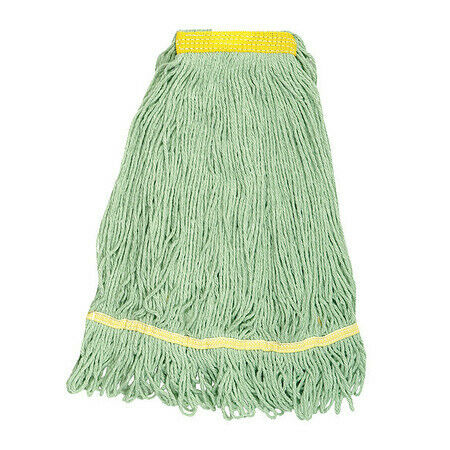 Tough Guy 1Nnw7 4-Ply Resin/Polyester Blend/Pet Wet Mop, Looped, Green
