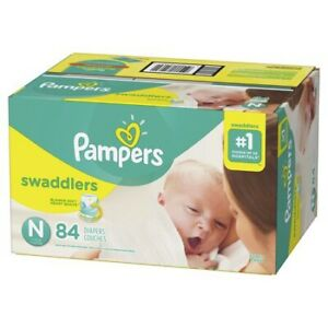 Unopened NB swaddlers - 84 count