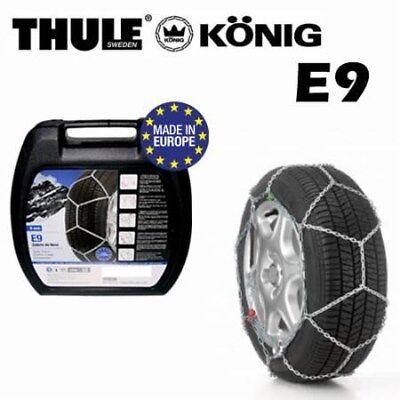 Catene neve per autovetture KONIG THULE E9 9mm gr 100 leggere montaggio semplice