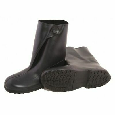TINGLEY 1400 Overboots, Mens, XL, Button, Black, Rubber, PR