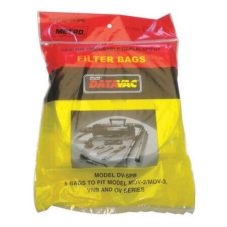 "Metrovac Dv-5Pba Vacuum Bag,3-Ply,Paper,6"" H,Pk5"