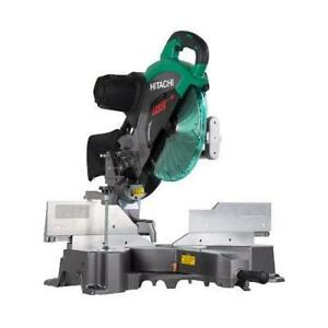 "Hitachi 12"" Double Bevel Sliding Mitre Saw with Laser C12RSH2"