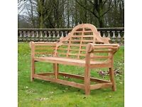 Brand New Unused Solid Teak Bench - Bargain at £250