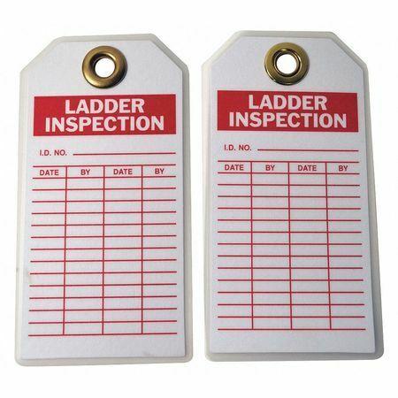 Brady 5Kr78 Lad Inspection Tag,5-3/4 X 3 In,Brs,Pk10