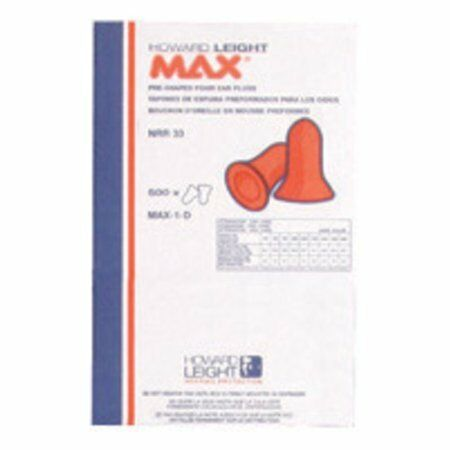 Howard Leight by Honeywell Single Use Max Bell Shape Polyurethane Foam Uncord W