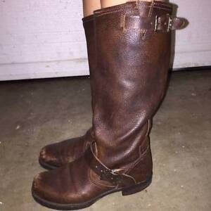 "Size 6.5 FRYE ""Veronica Slouch"" leather boots"