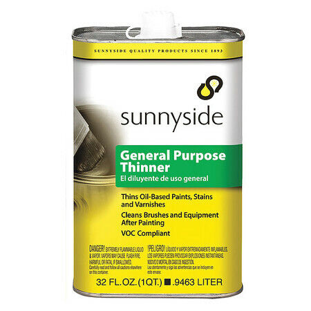 Sunnyside 47632 Paint Thinner,1/4 Gal.,Solvent Base