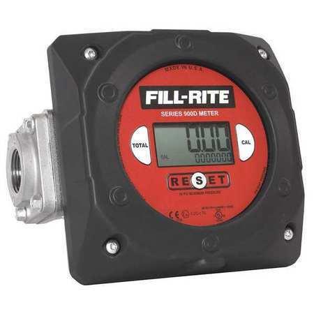 FILL-RITE 900CDBSPT Meter,Digital,1 In.BSPT,23-151 LPM