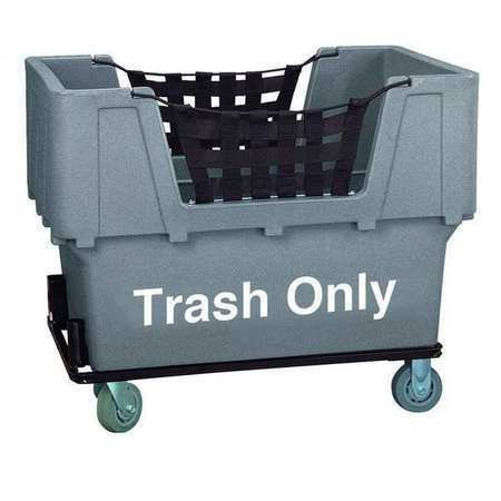 ZORO SELECT N1017261-GRAY-TRASH Material Handling Cart,Gray,Trash Only