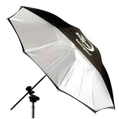 "Photogenic 32"" Eclipse Umbrella with White Satin Interior & Black Cover (EC32BC)"