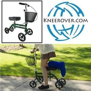 NEW STEERABLE KNEE SCOOTER KW-05 213839182 KNEEROVER KNEE WALKER CRUTCHES ALTERNATIVE GREEN