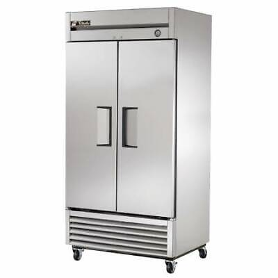 Used True T-35f Two Door Stainless Steel Freezer - 35 Cu. Ft.