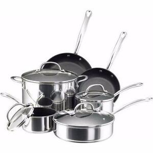 Farberware Millennium Stainless Steel 10-Piece Cookware Set-NEW/BOXED!