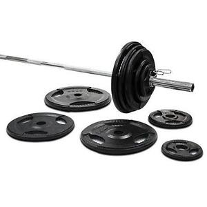 300lbs Cast Iron Grip Olympic Plate Set - Brand New