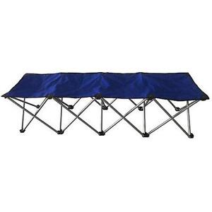 Blue 4 person folding canvas bench, new in box