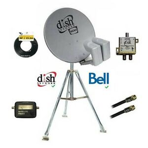 Bell Satellite Combo,Tripod,Dish,Cable NEW