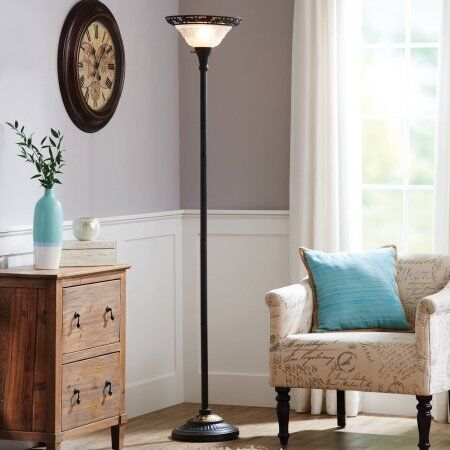 Better Homes and Gardens 70  Victorian Torchiere Floor  Better Homes and Gardens Victorian Floor Lamp   eBay. Living Room Floor Lamps Ebay. Home Design Ideas