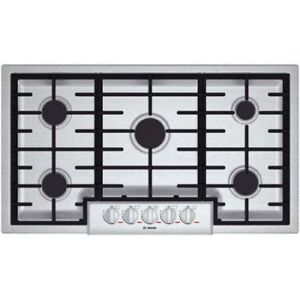 "BOSCH BENCHMARK SERIES 36"" STAINLESS STEEL GAS COOKTOP"
