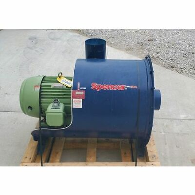 Used 50 Hp Spencer Industrial Vacuum Blower Model 30107c1