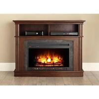 """Whalen Fireplace TV Stand for TVs Up To 50"""" Electric Dark Brown"""