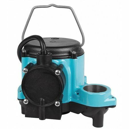 "LITTLE GIANT 6-CIA 1/3 HP 1-1/2"" F Submersible Sump Pump 115V Diaphragm"
