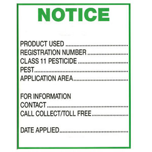 Residential Pesticide signs for sale