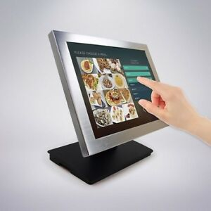 "15"" Silver Metal Frame POS Touch Screen Monitor"