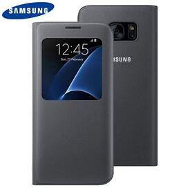 High Quality Original Samsung S7 Edge Original Black Cover with Display Window